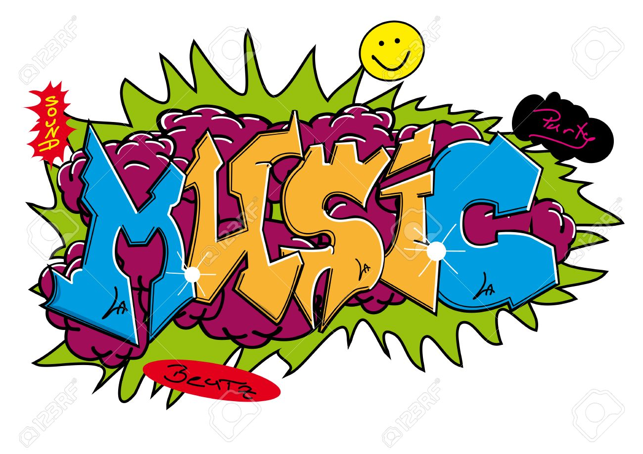 Graffiti art design - Graffiti Street Art Design With Word Stock Vector 7674374