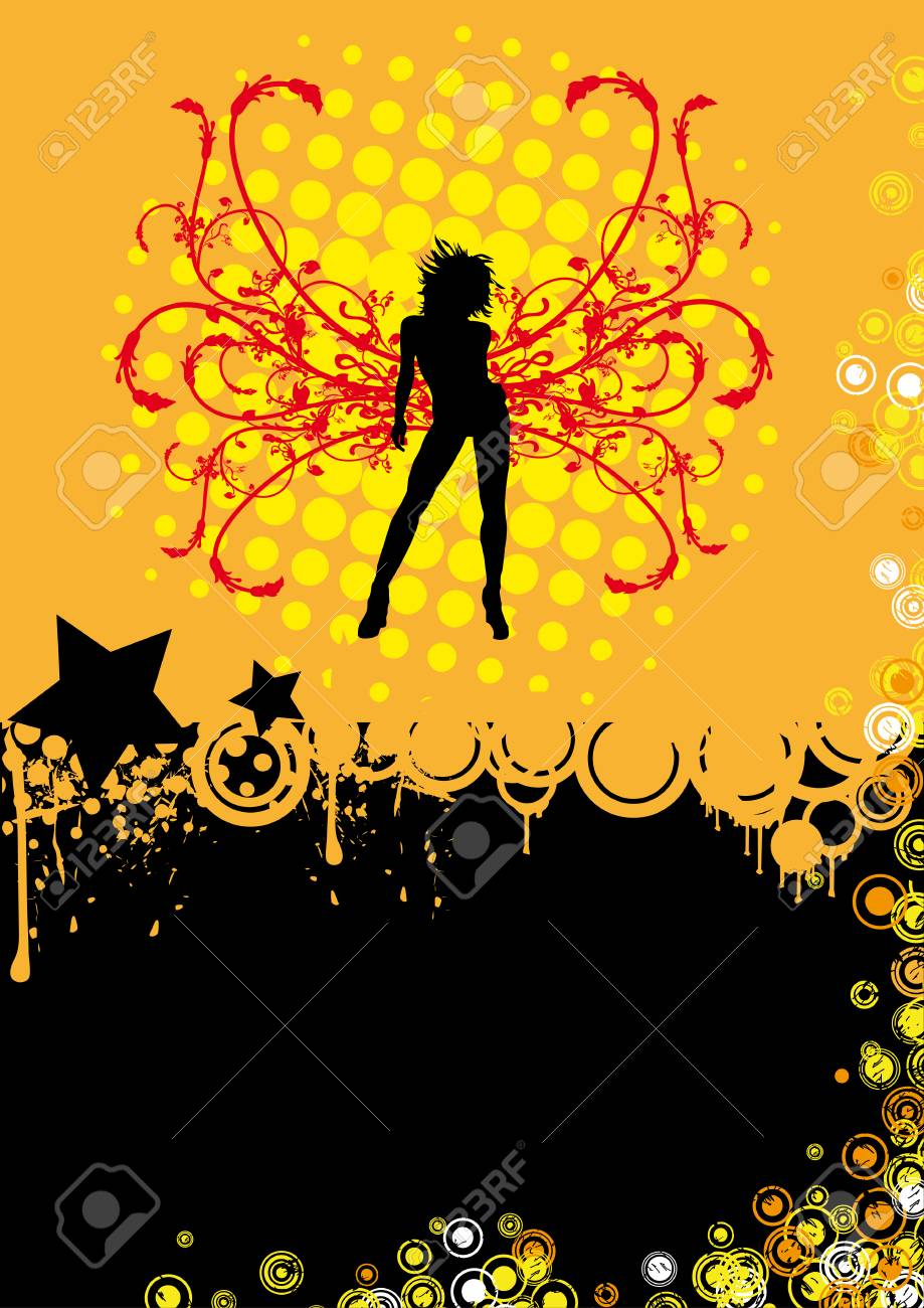 Design for your disco or party flyer. Stock Vector - 7674375