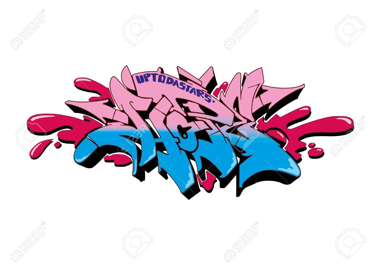 Graffiti Vector Sketch Design Word Hope