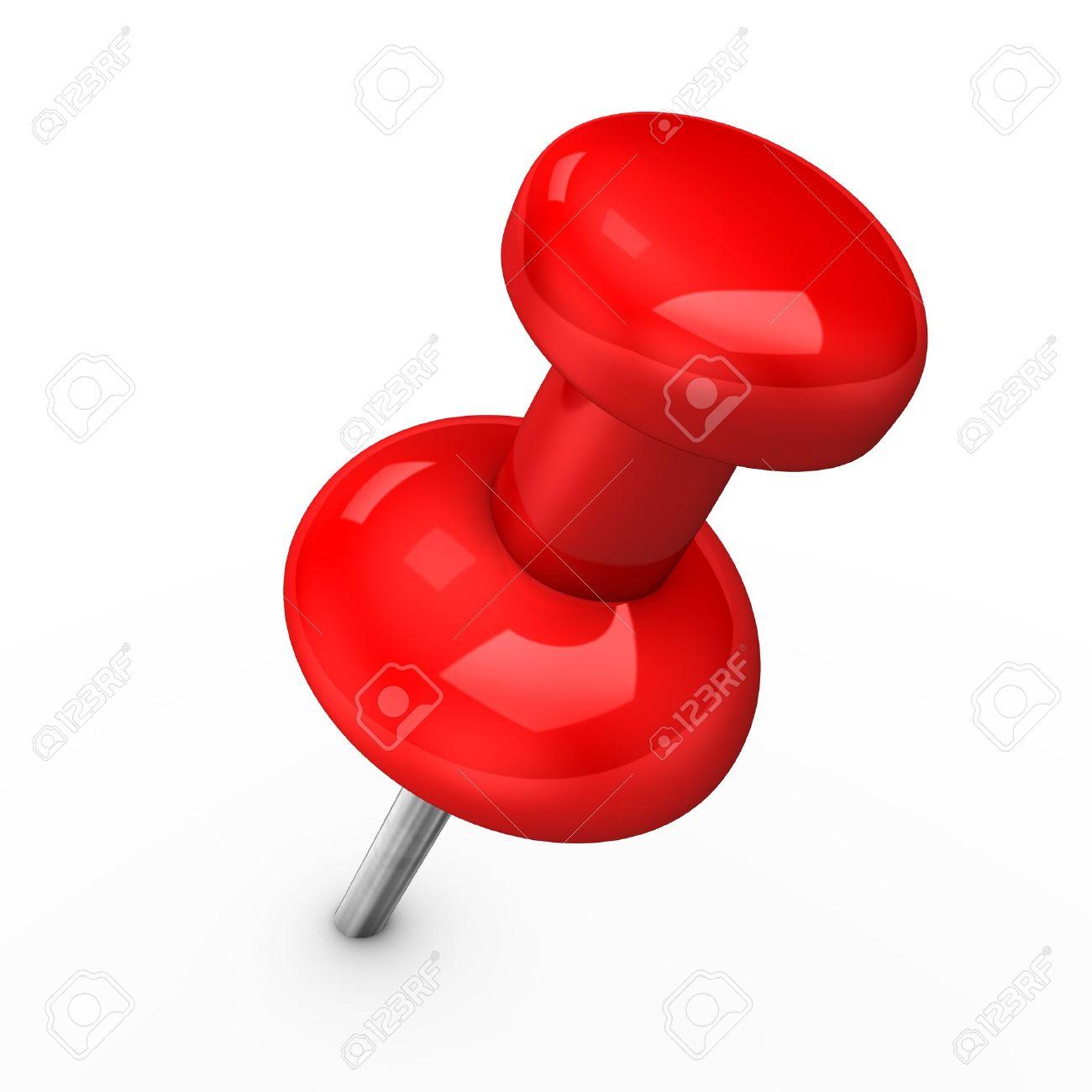 3d ilustracin de chincheta roja en pinang blanco foto de archivo 11253377