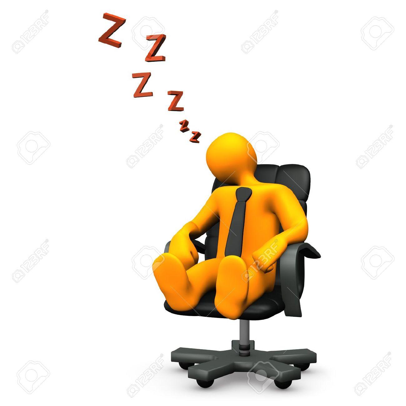 Orange cartoon character has fallen asleep on the swivel armchair. Stock Photo - 12020164
