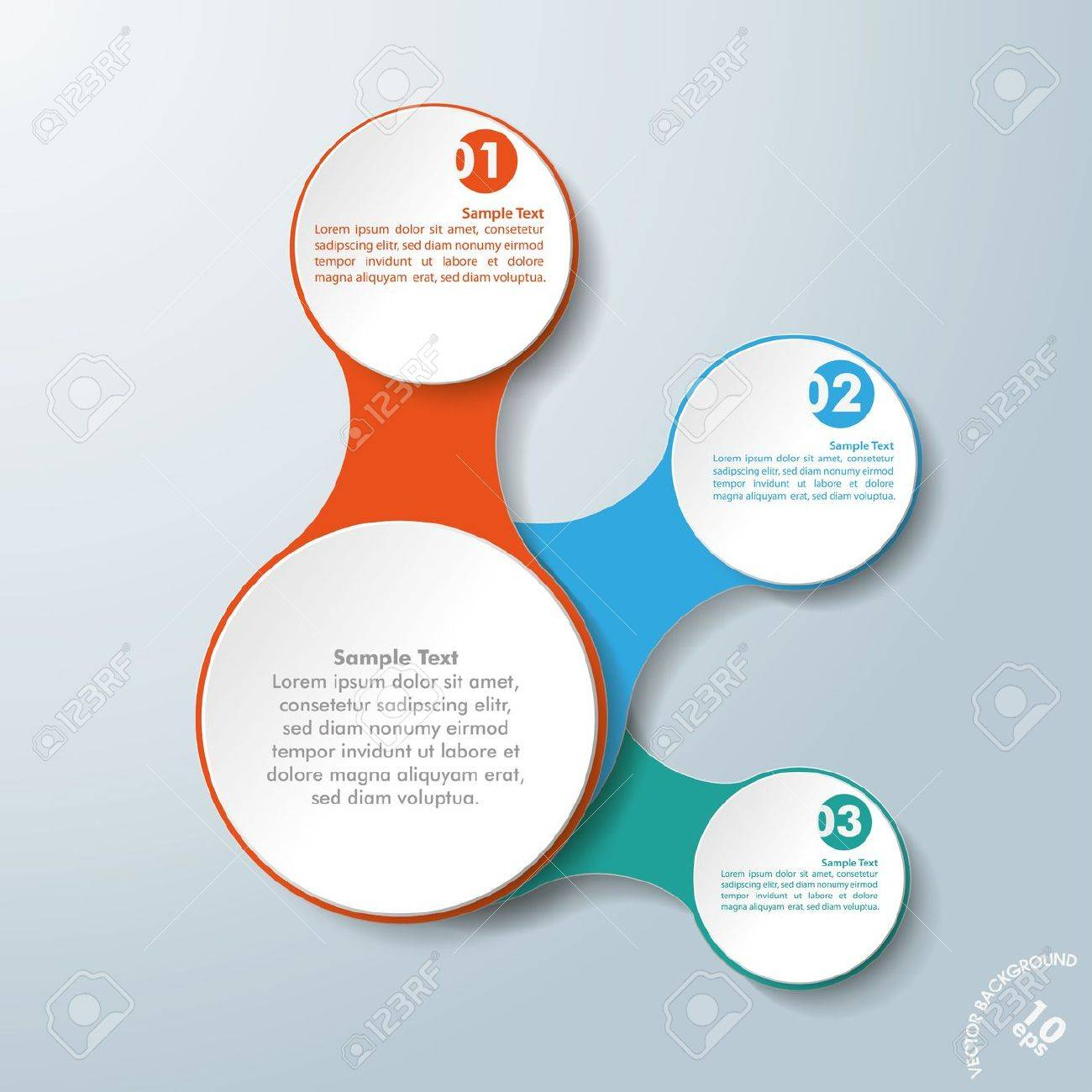 Infographic design with colored and white circles on the grey background. Eps 10 vector file. Stock Vector - 21323037
