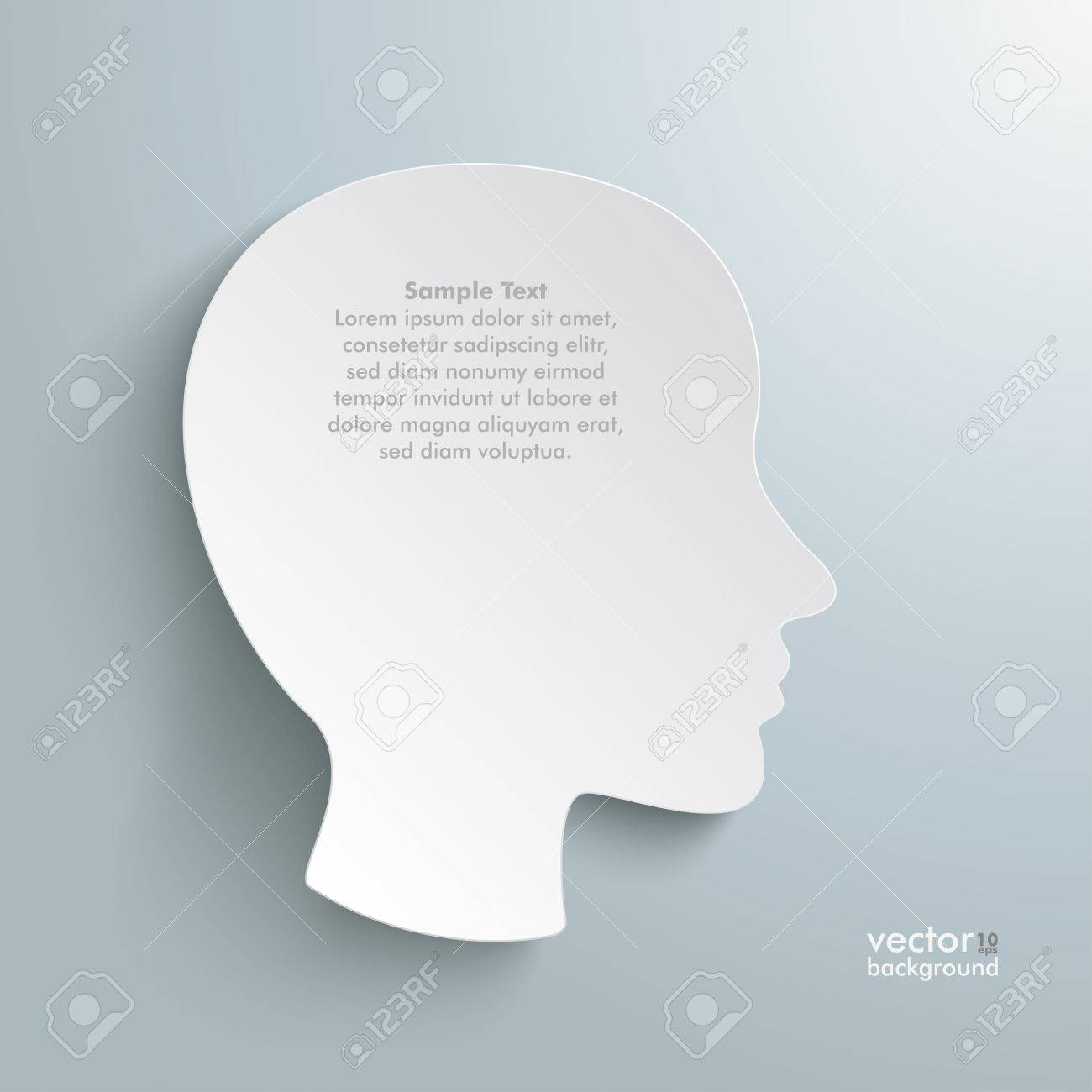Infographic with white a head on the grey background. Stock Vector - 22816173