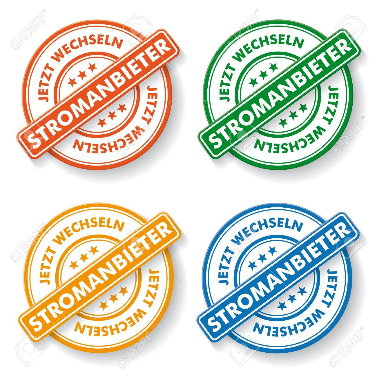Stemp Sticker With German Text \