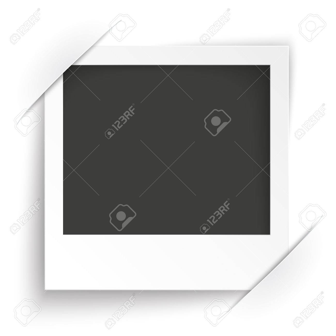 convert instant photo frame on the white background eps 10 vector file stock vector