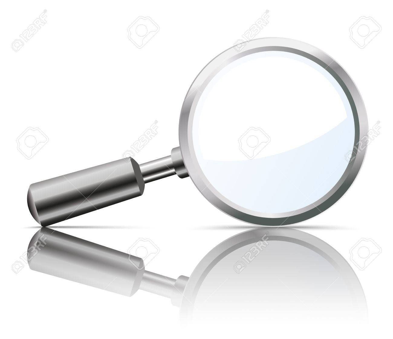 Loupe with reflection on the white background. - 56044742