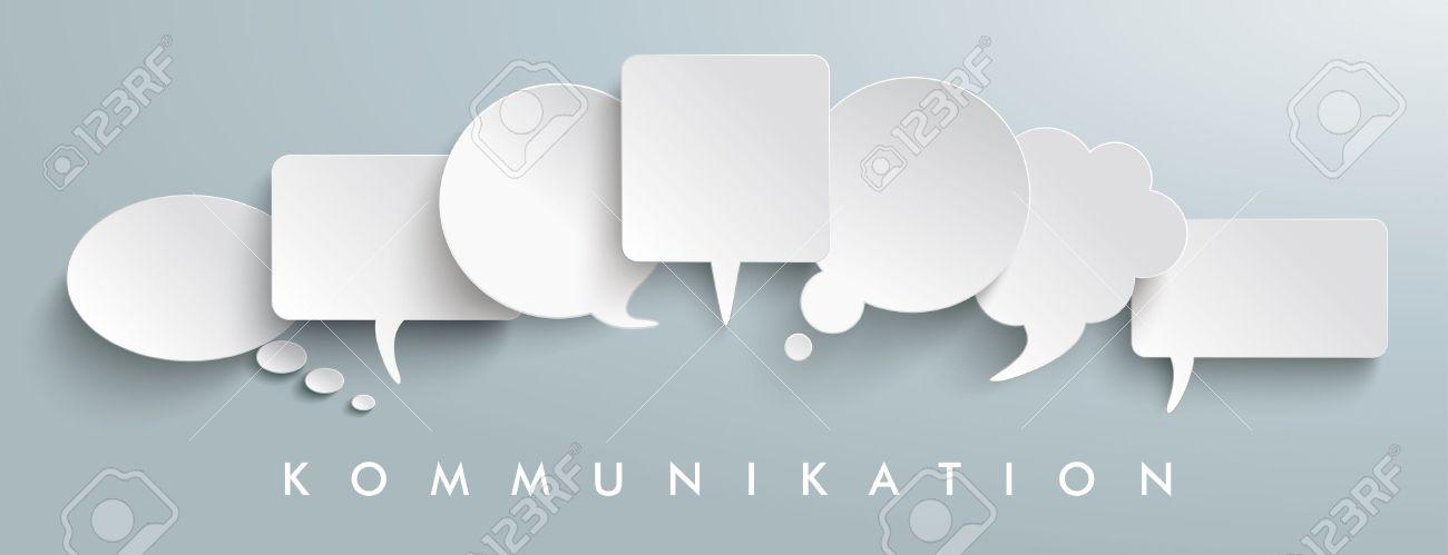 "German text ""Kommunikation"", translate ""communication"". vector file. - 57652545"
