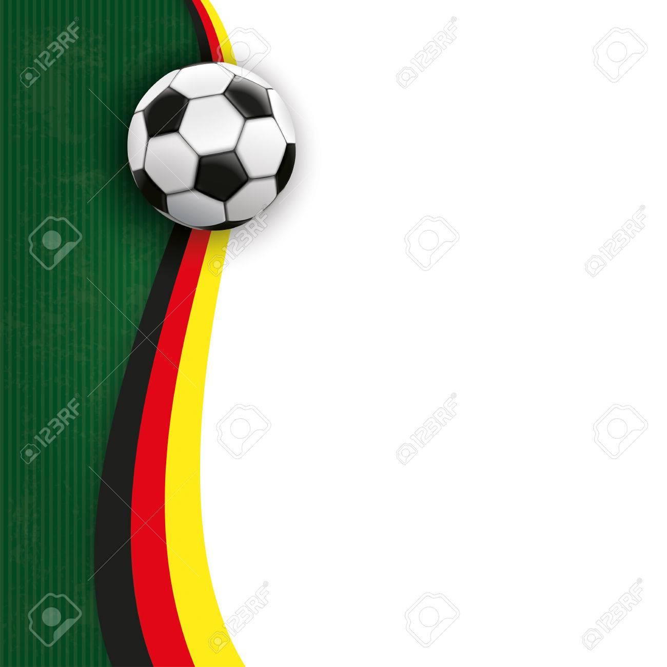 Cover Mit Fußball, Grünen Und Weißen Hintergrund Und Deutsch ...