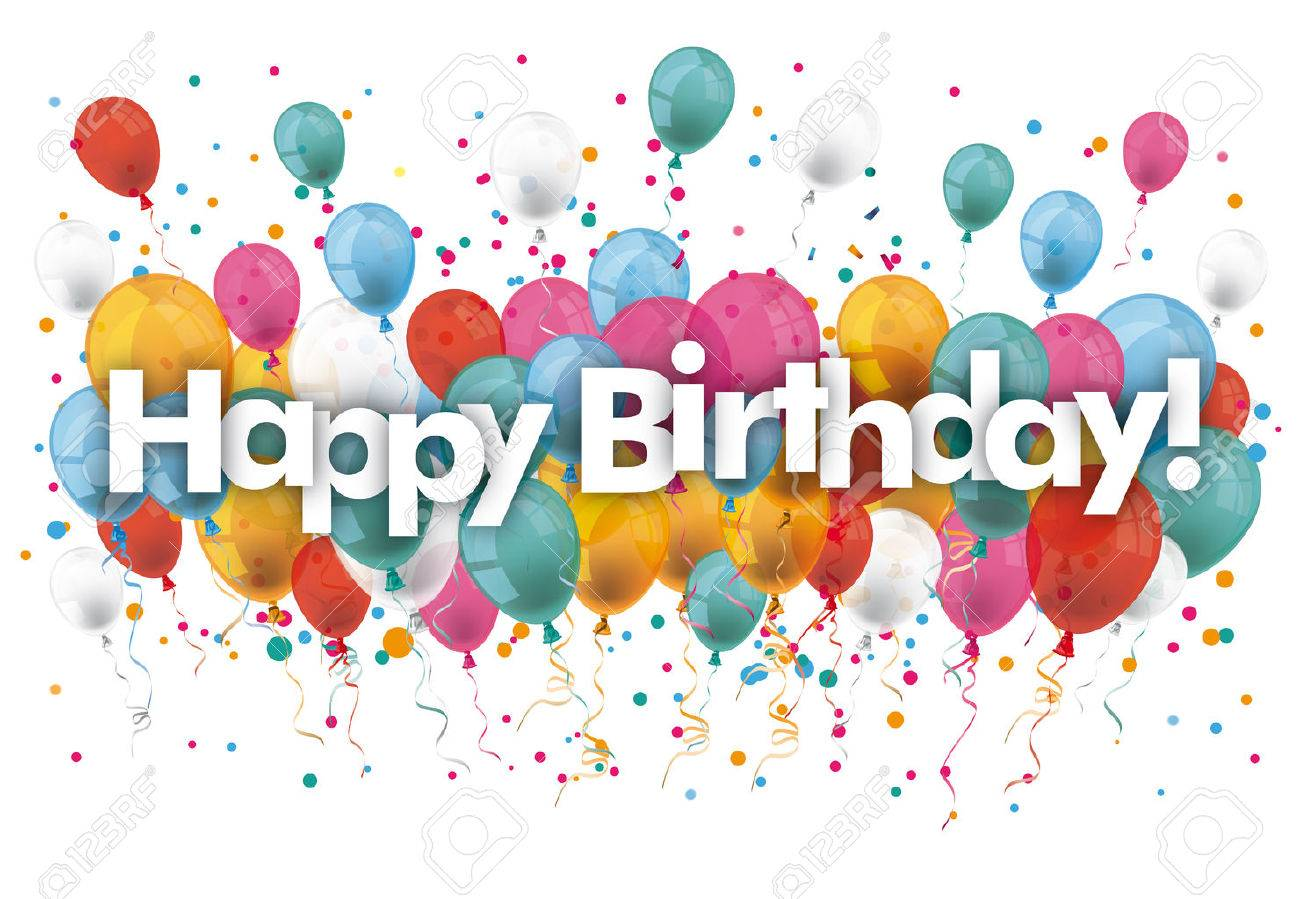 Balloons with text Happy Birthday. vector file. - 62101250