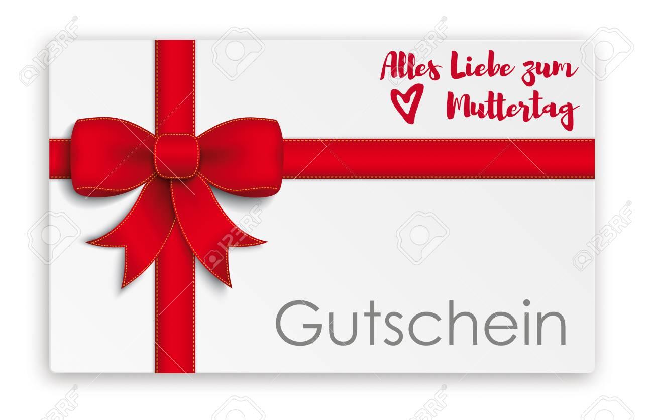German text Gutschein Alles Liebe zum Muttertag, translate Coupon..