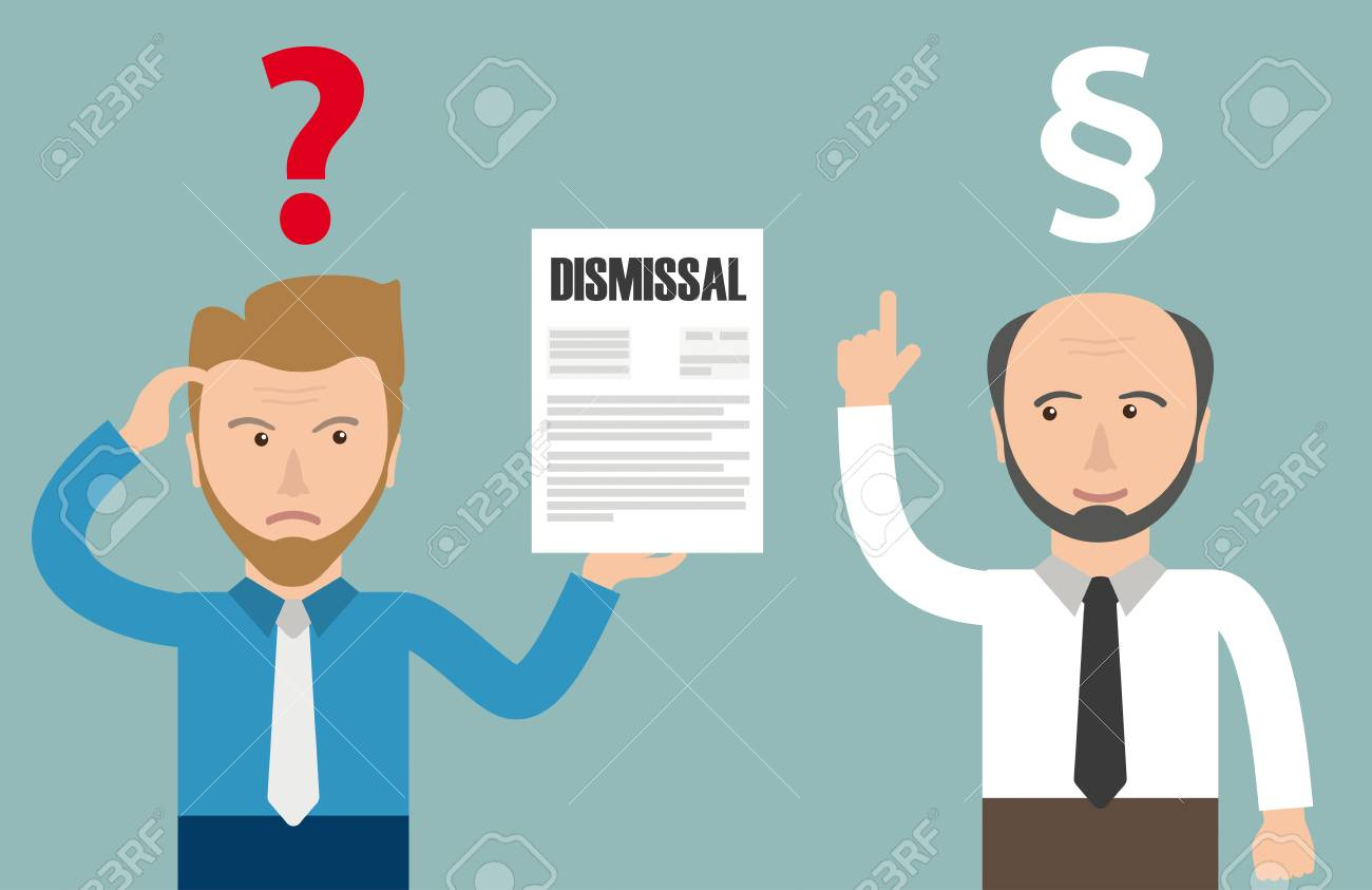Angry businessman with dismissal letter. Eps 10 vector file. - 88324474