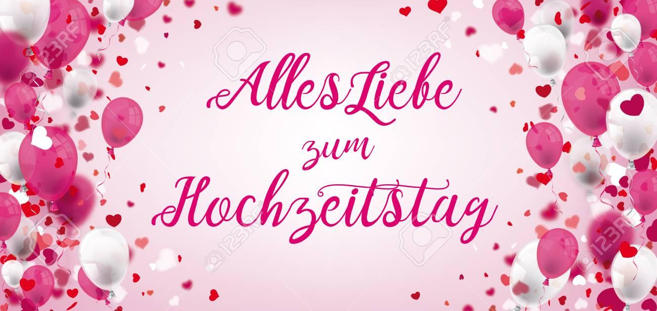 German Text Alles Liebe Zum Hochzeitstag Translate Happy