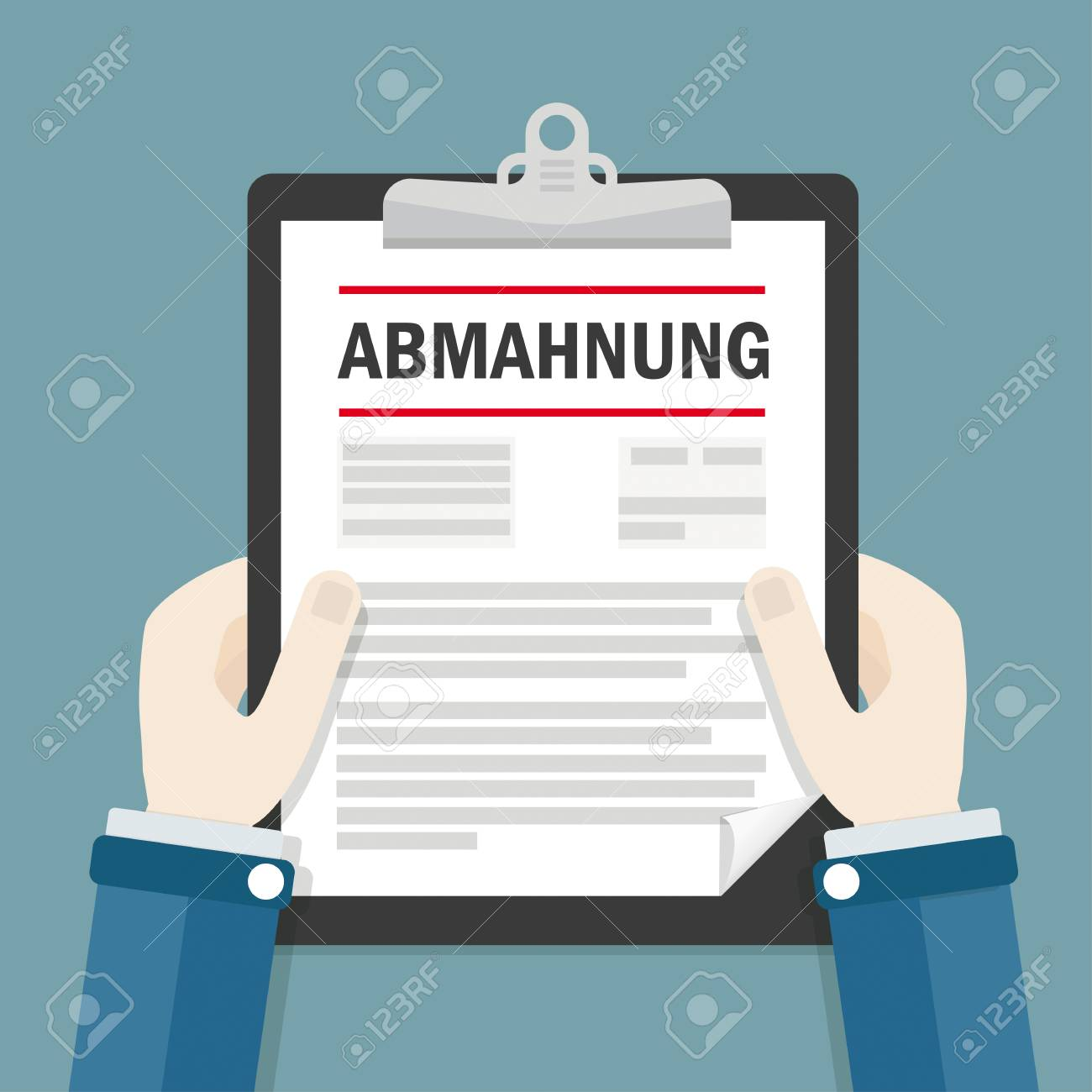 German Text Abmahnung Translate Warning Letter