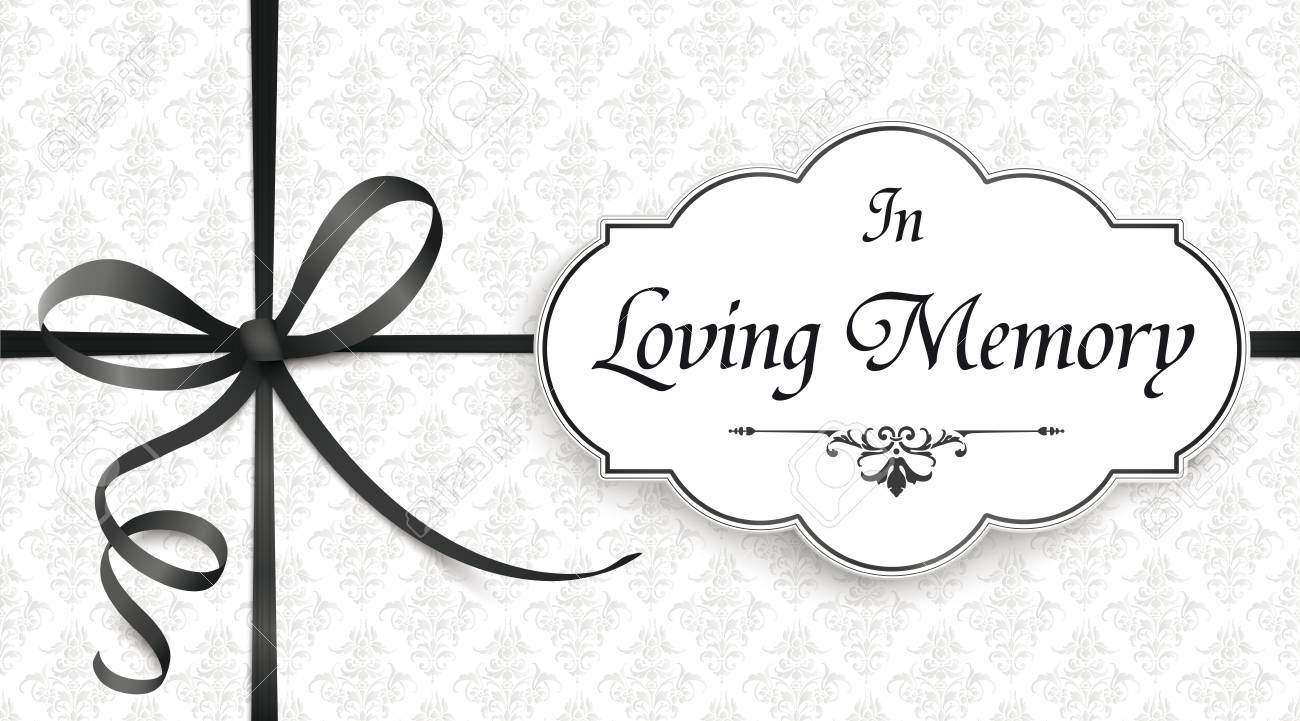 Obituary with the text In Loving Memory. Eps 10 vector file. - 109262282