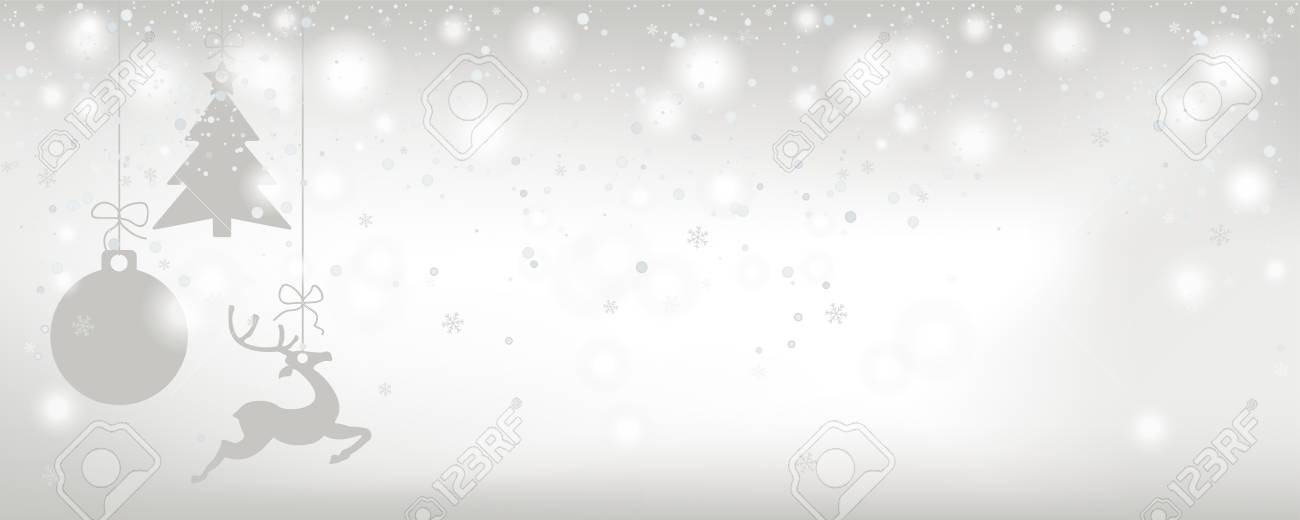 Christmas card with snowfall and gray stickers on the bright background. Eps 10 vector file. - 125778266