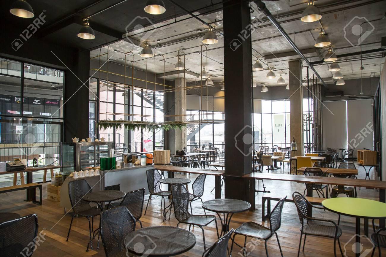 Schönes Café Oder Cafe Restaurant Innenarchitektur Eines Cafés ...