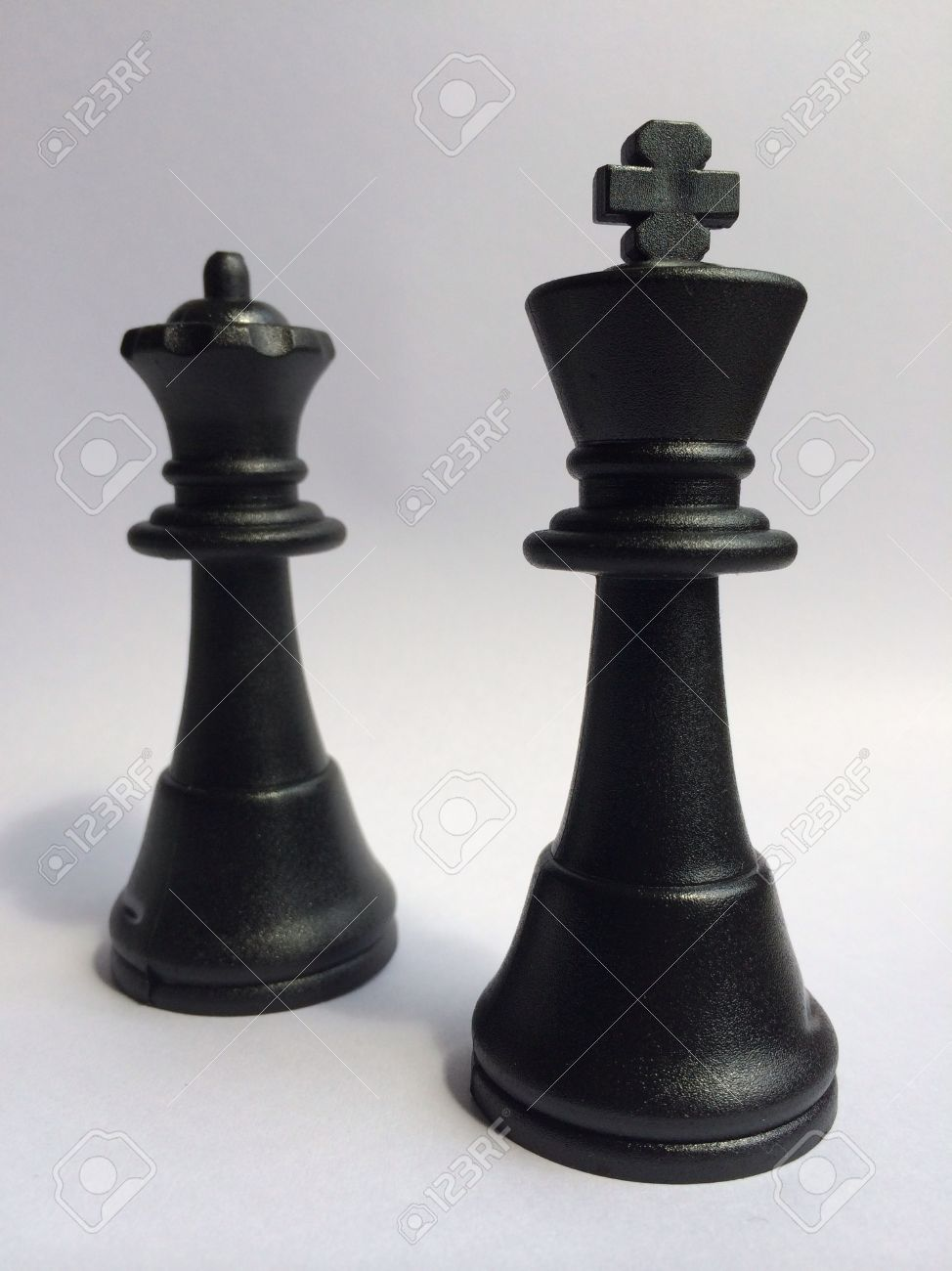 Black King And Queen Chess Pieces Stock Photo Picture And Royalty