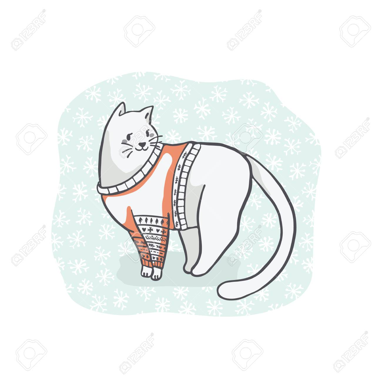 Pusheen Cat Christmas Gift Holiday, Cat transparent background PNG clipart  | HiClipart