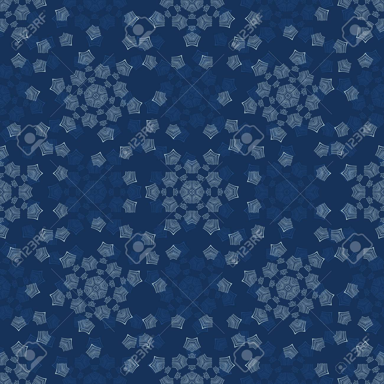 Winter Snowflake Texture Seamless Vector Pattern Drawn Starry Royalty Free Cliparts Vectors And Stock Illustration Image 110646363
