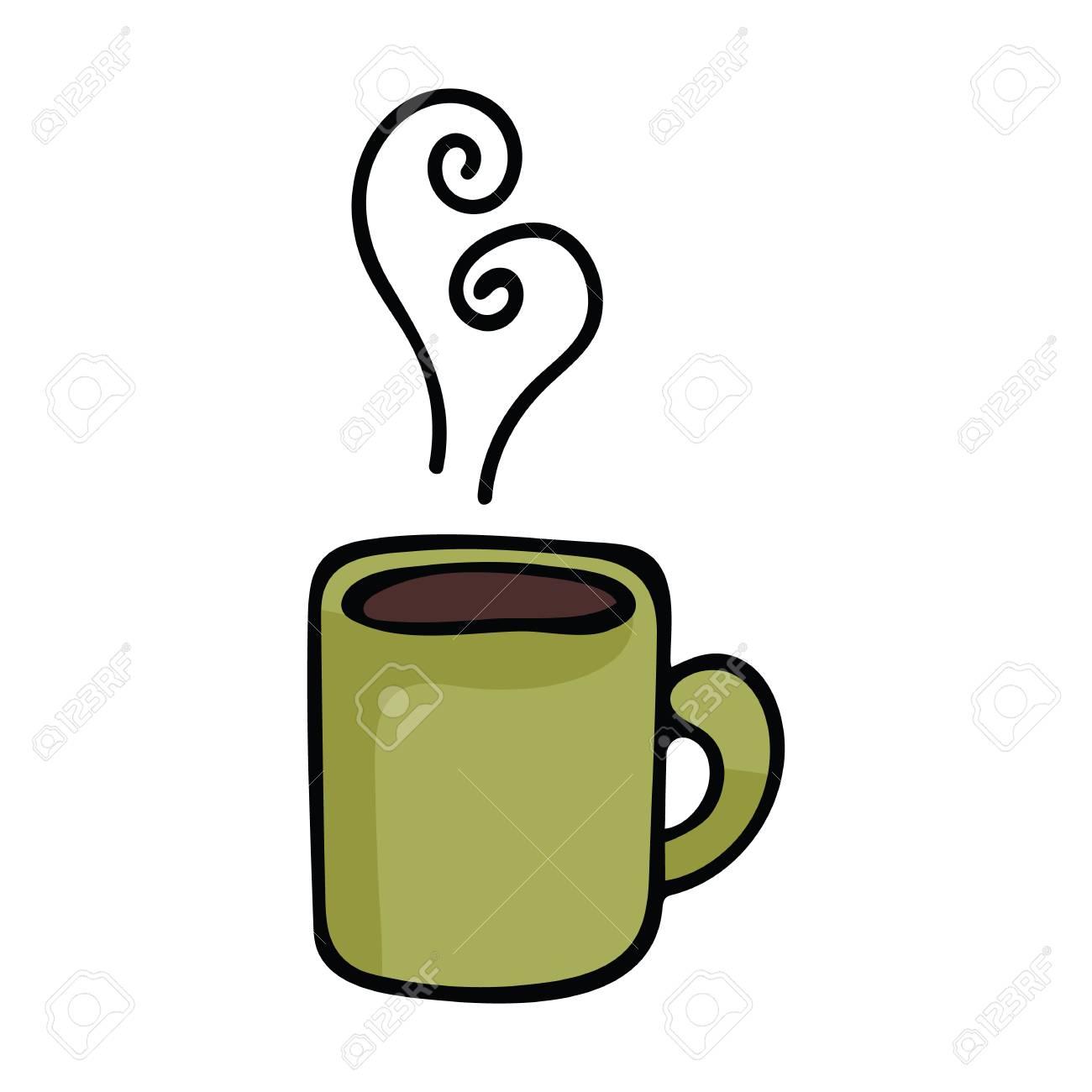 Cute Coffee Mug Cartoon Vector Illustration Motif Set Hand Drawn Royalty Free Cliparts Vectors And Stock Illustration Image 115641609