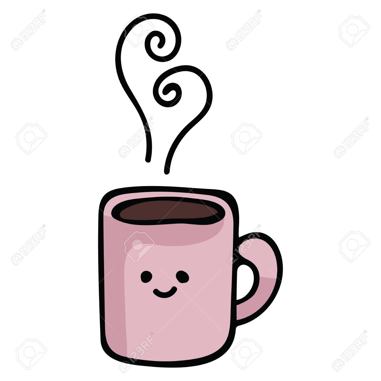 kawaii coffee mug cartoon vector illustration motif set hand royalty free cliparts vectors and stock illustration image 115907860 kawaii coffee mug cartoon vector illustration motif set hand