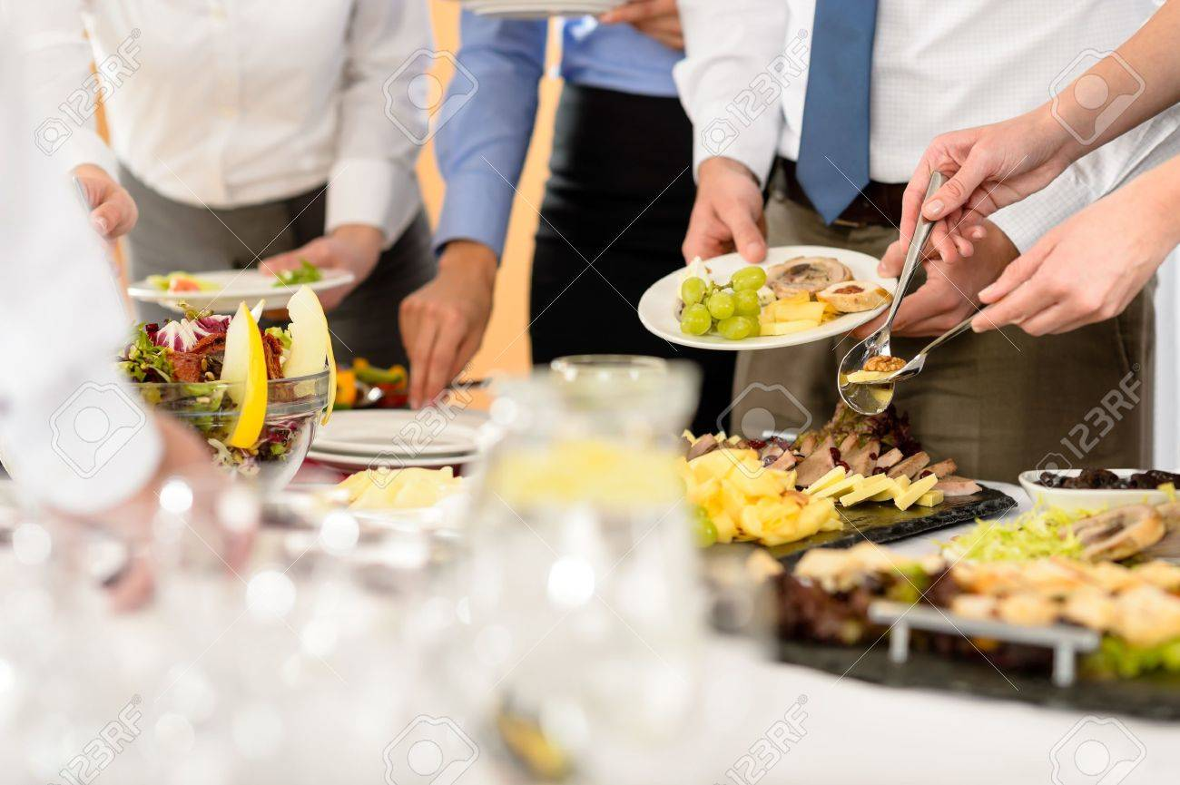 Business catering food for company formal celebration close-up Stock Photo - 13751209