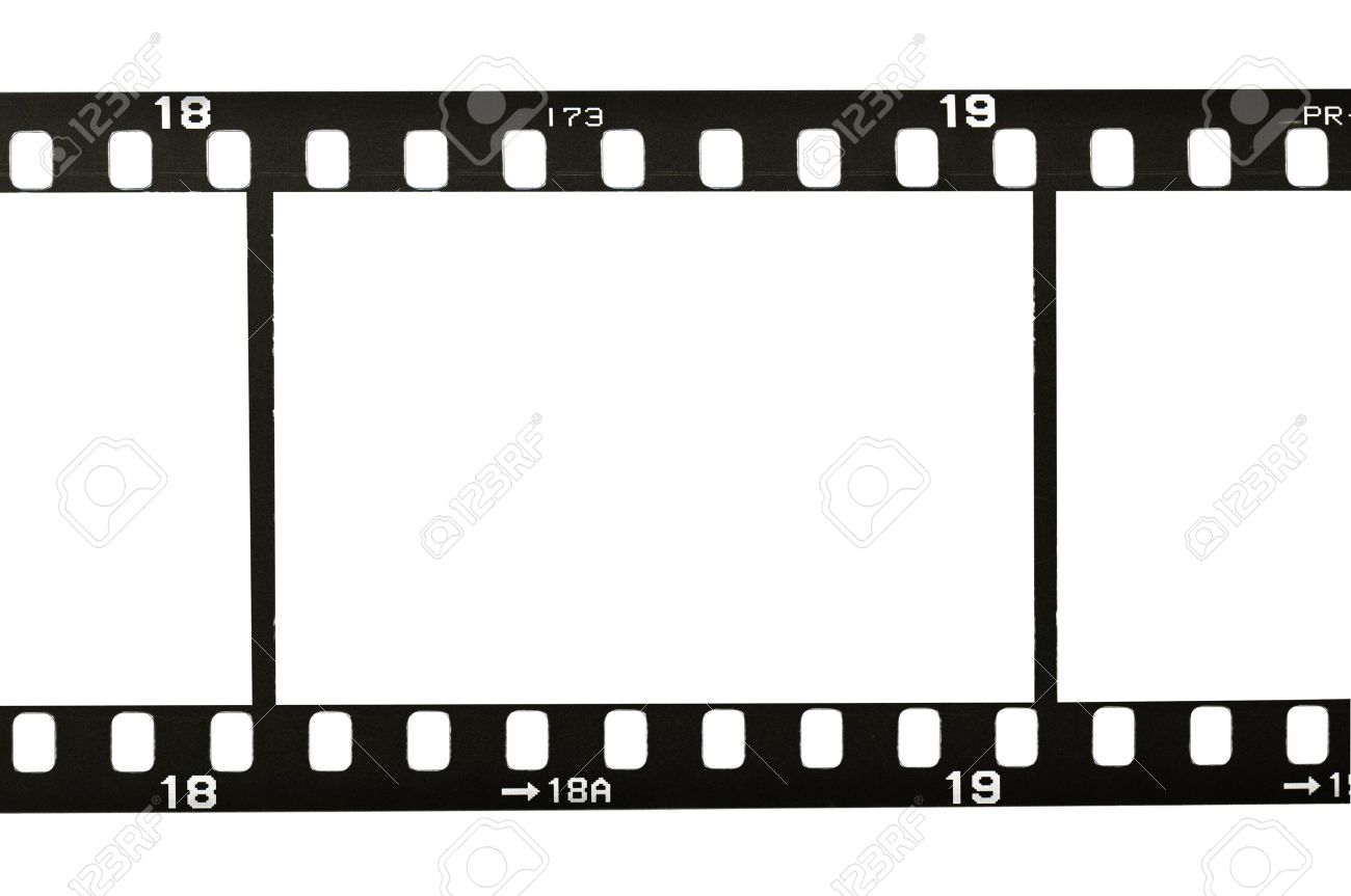 Frame Of 35mm Film Strip, Isolated On White Stock Photo, Picture And ...
