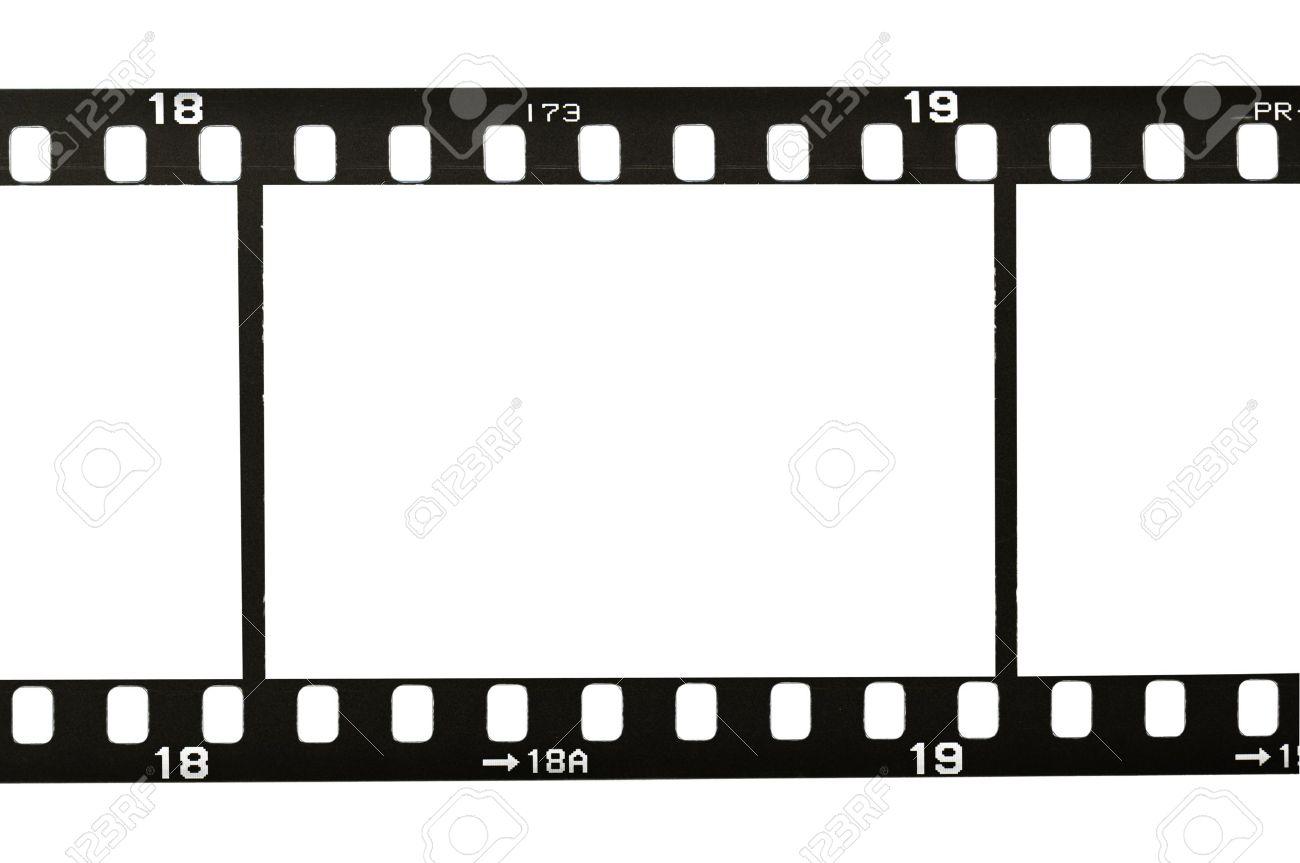 Marco De La Tira De Película De 35 Mm, Aislado En Blanco Fotos ...