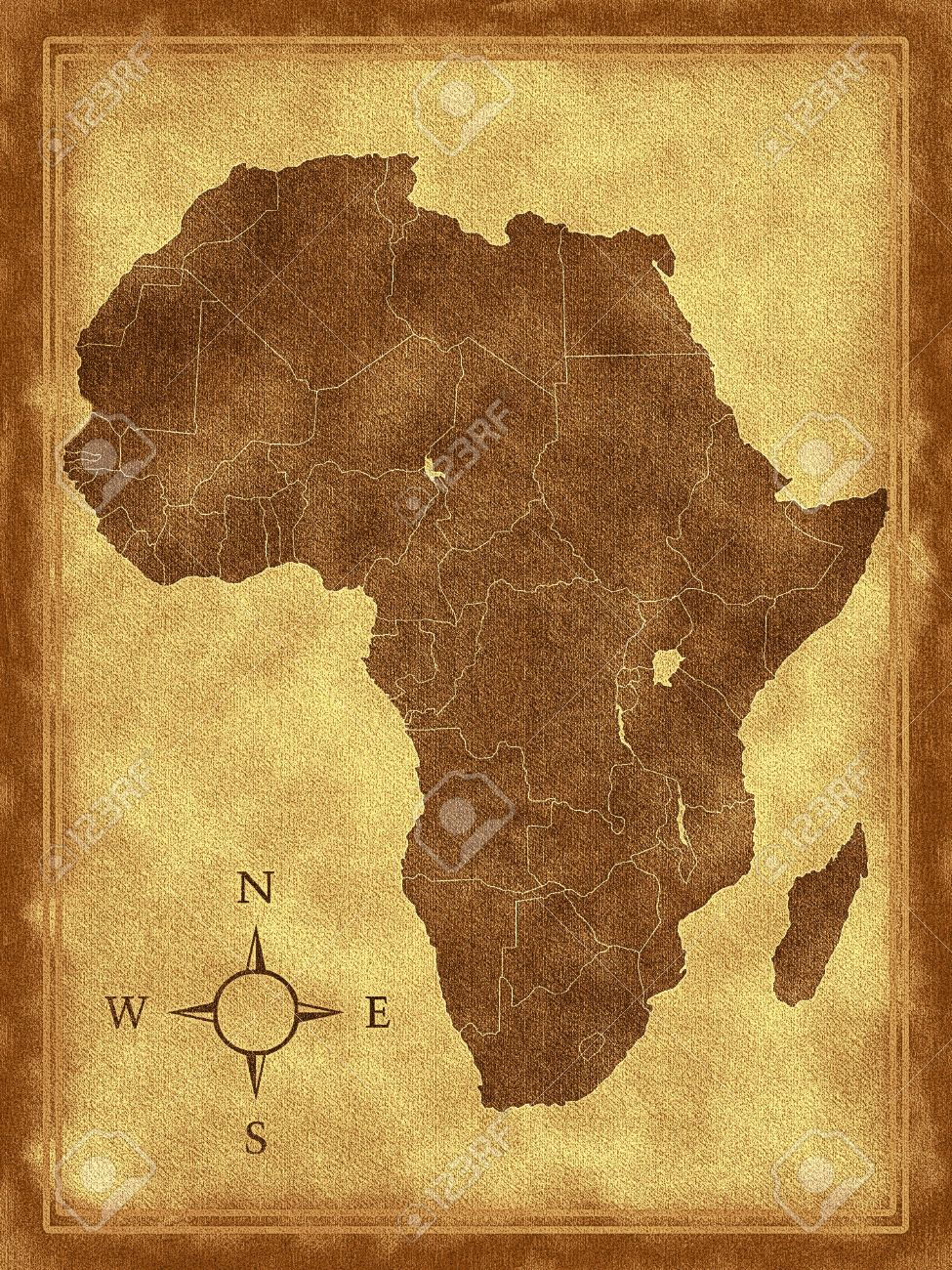 Map Of Africa On The White Background Stock Photo, Picture And