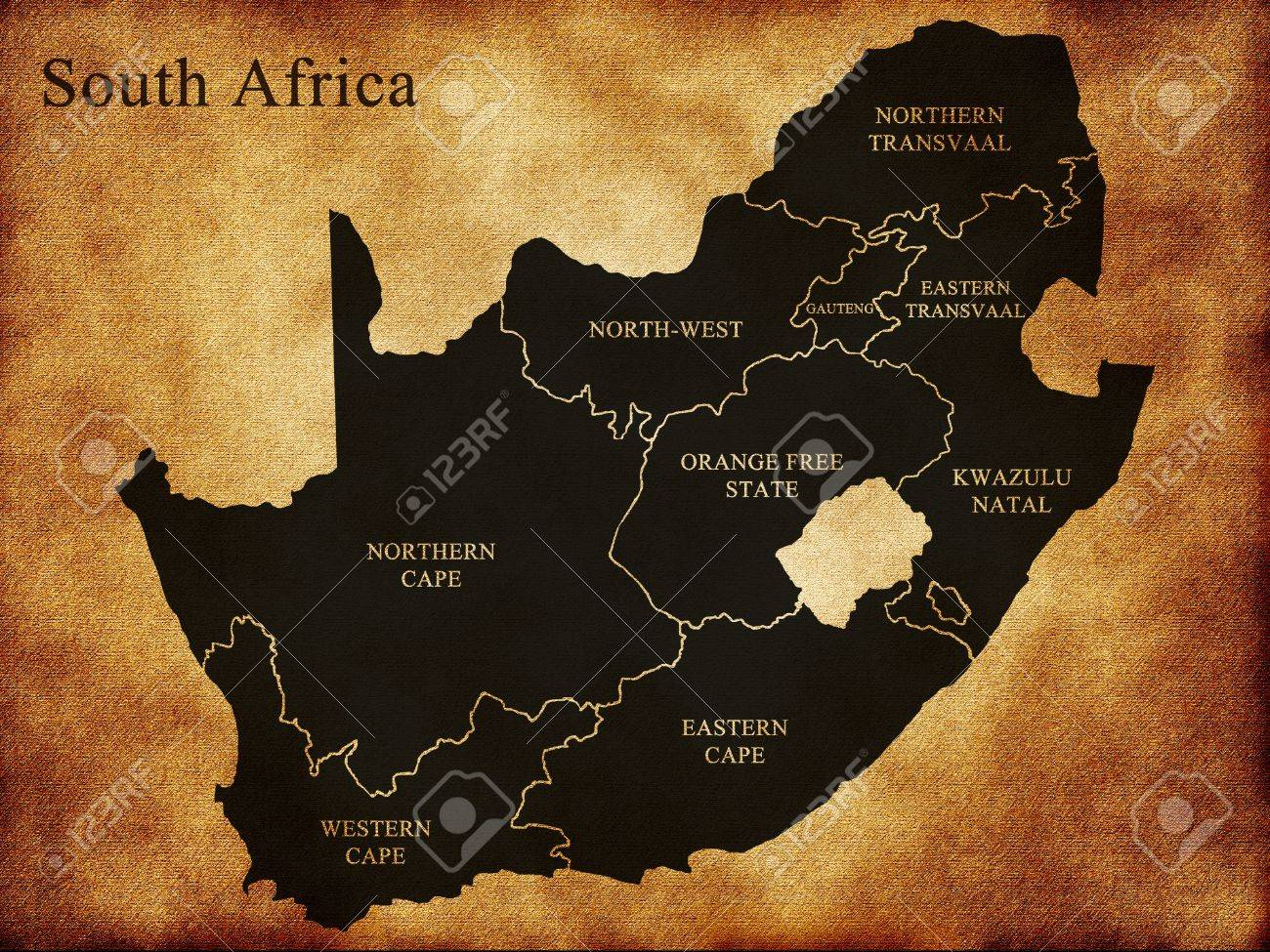 Africa Map Background.Map Of South Africa On The Old Background Stock Photo Picture And