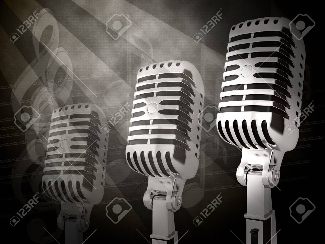 Vintage microphone on the background Stock Photo - 13120050