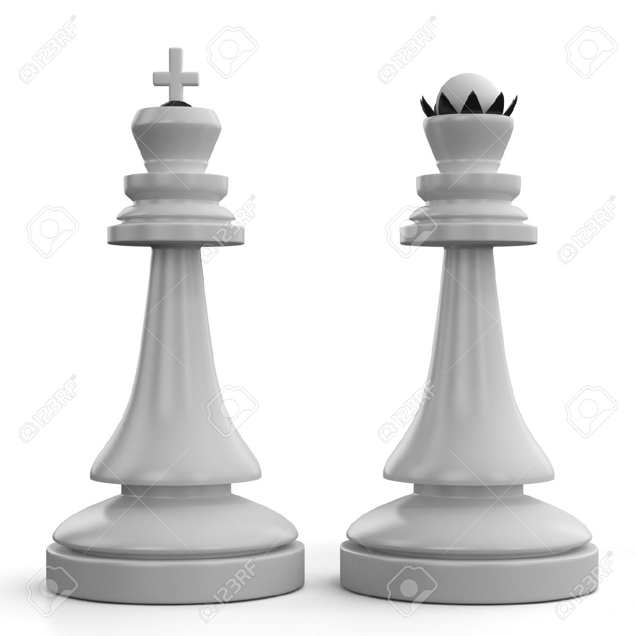 Chess King And Queen Stock Photo Picture And Royalty Free Image