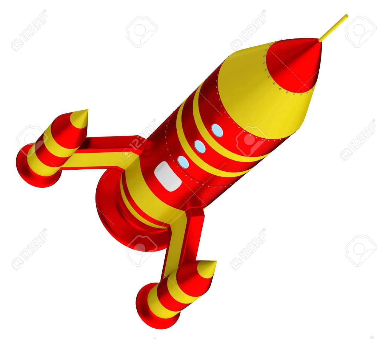 Space Rocket isolated on white background Stock Photo - 15204929