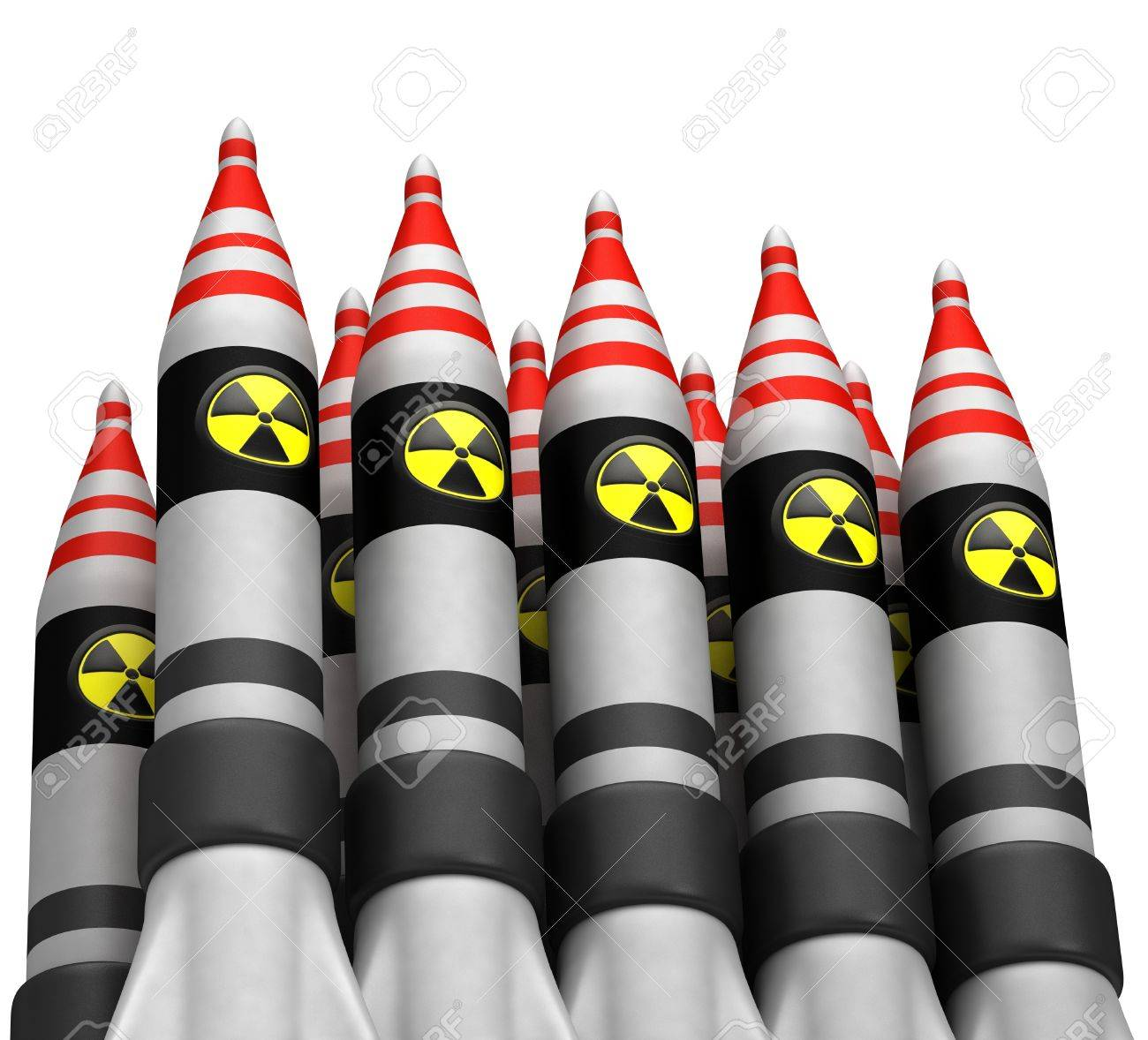 Nuclear bombs with radiation icon Stock Photo - 15135221