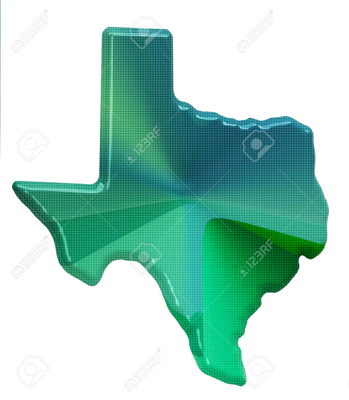 3d Map Of Texas.Map Of Texas In 3d Style