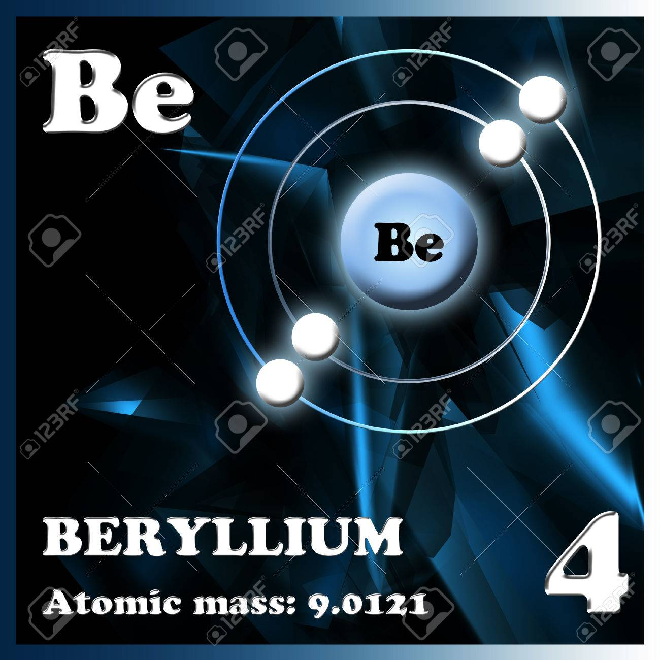 The element beryllium in the periodic table of mendeleev stock photo stock photo the element beryllium in the periodic table of mendeleev urtaz Image collections