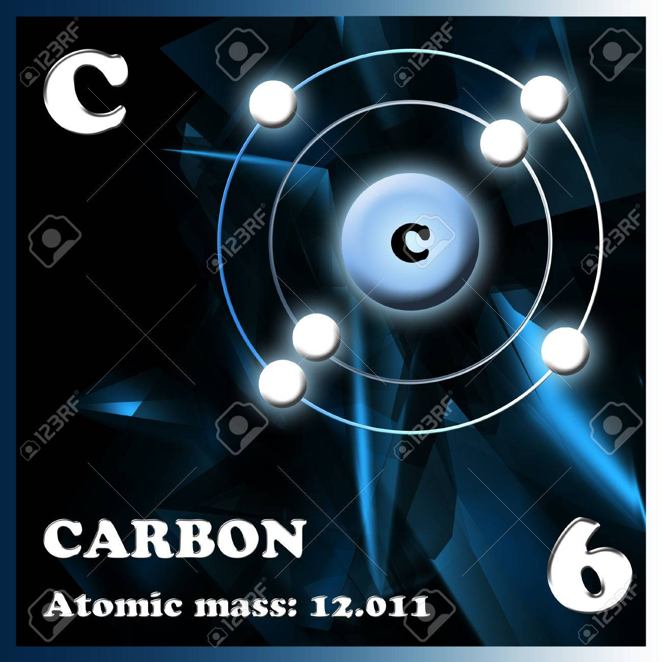 stock photo the element carbon in the periodic table of mendeleev - Periodic Table Carbon