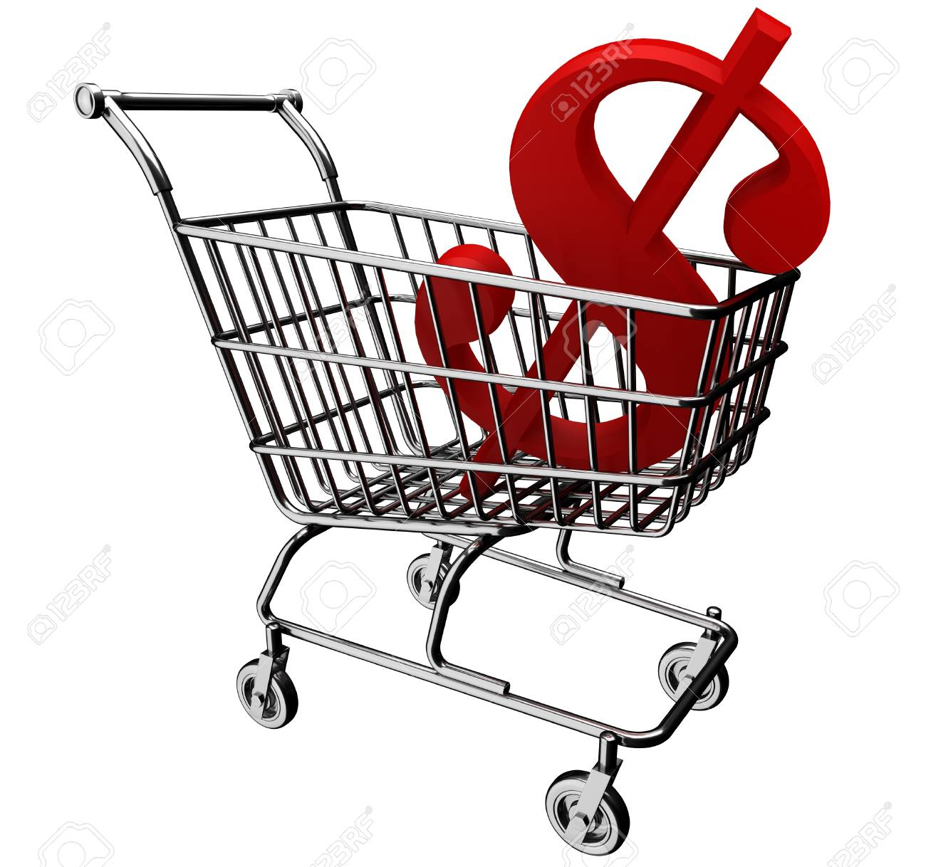 3d shopping cart with the dollar symbol stock photo picture and