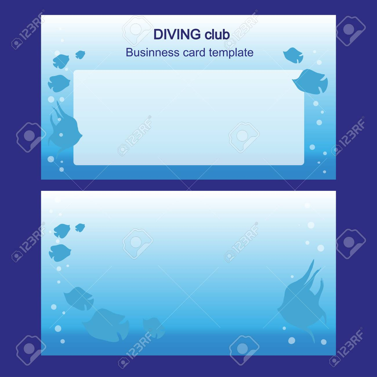 Business card with fishes two sides diving and fishing royalty free business card with fishes two sides diving and fishing stock vector 82070984 colourmoves