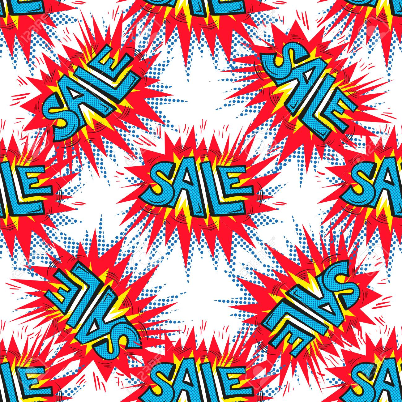 Sale Background Closeout Seamless Pattern Clearance Wallpaper