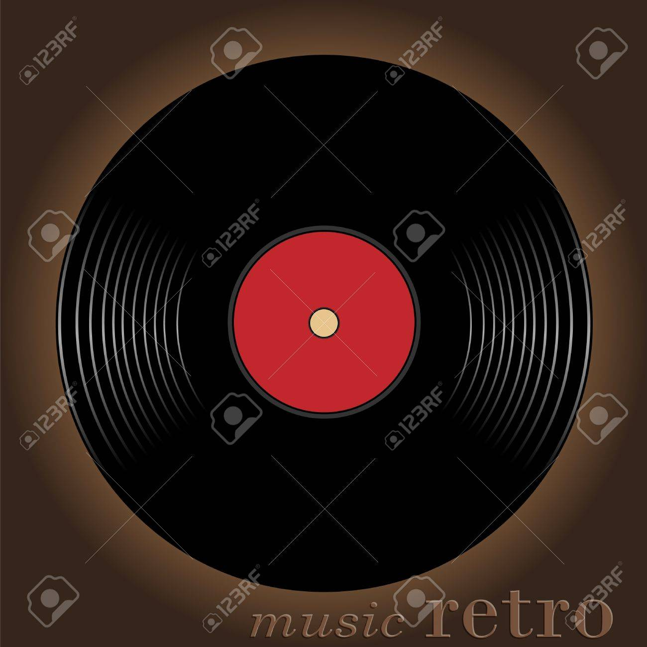 Old musical disk located against a dark background Stock Photo - 9286333