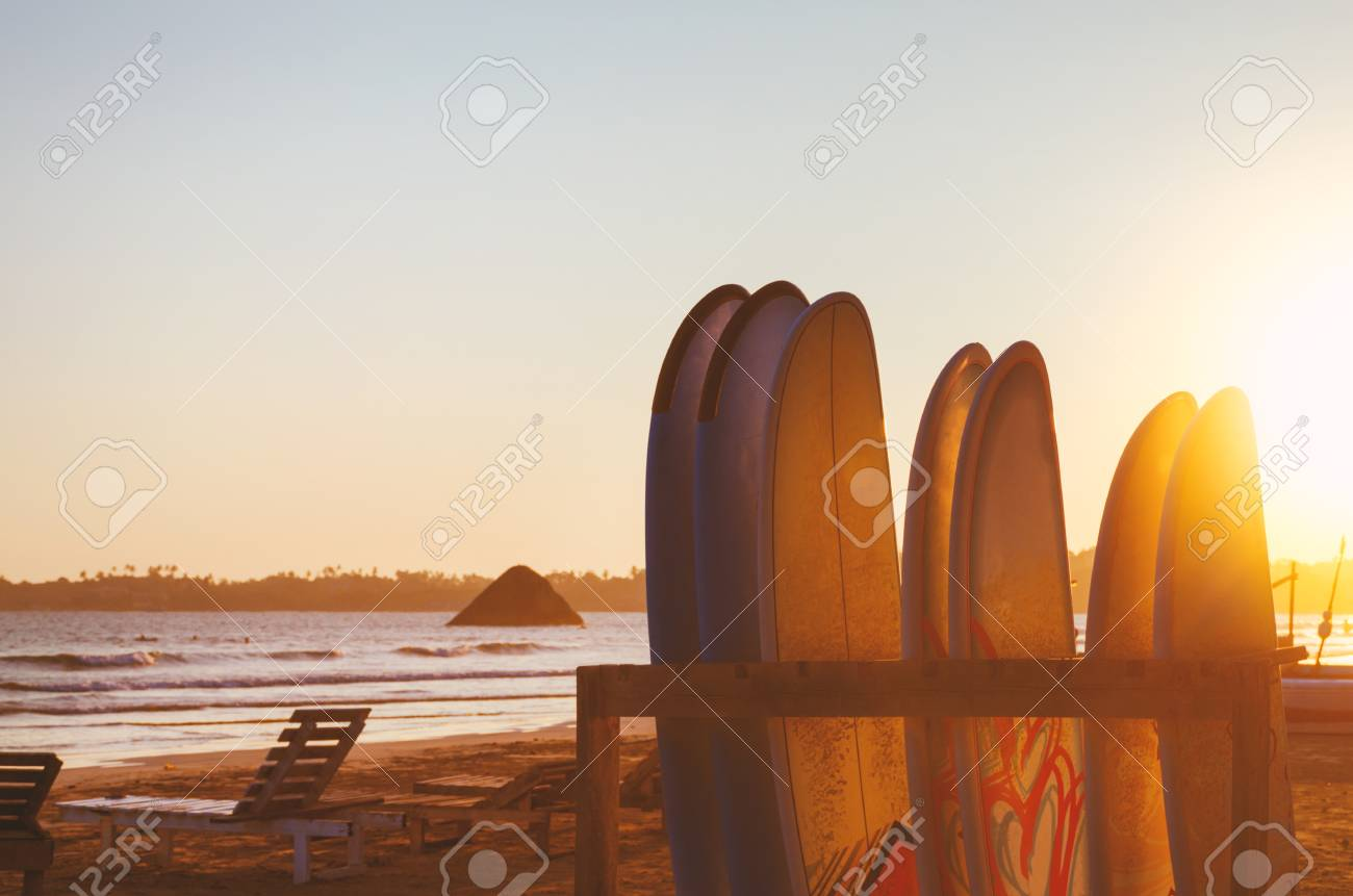 Vacation Holidays Background Wallpaper Row Of Surfboards Two