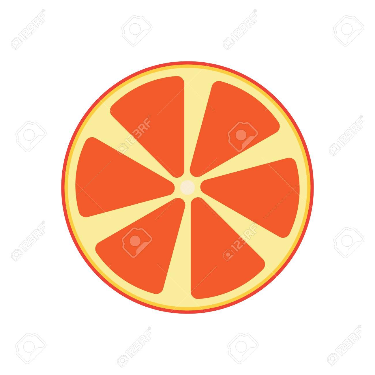 Vector Abstract Orange Fruit