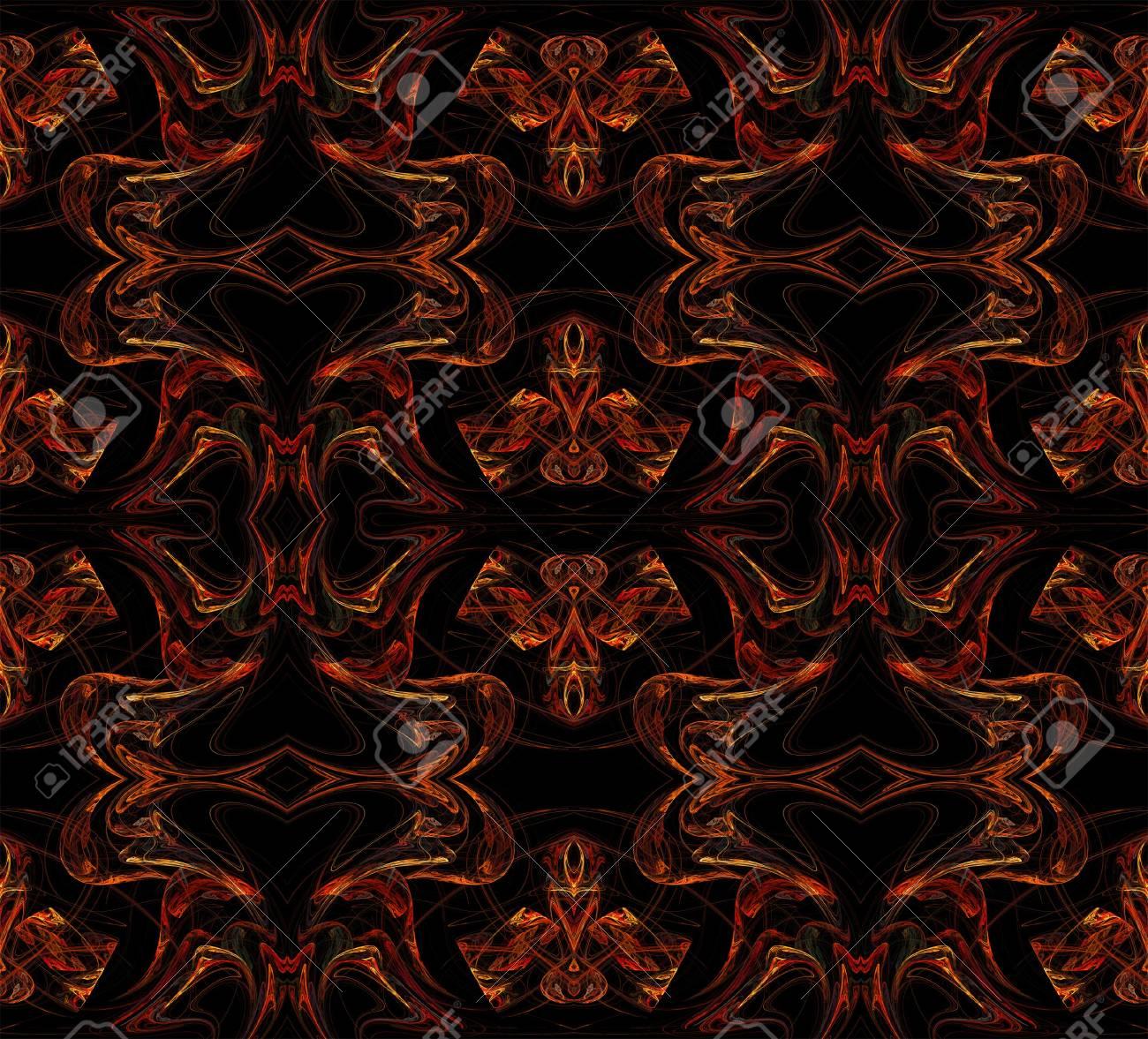 シームレスな壁紙 テキスタイル パターンまたは黒の背景に複数の色の
