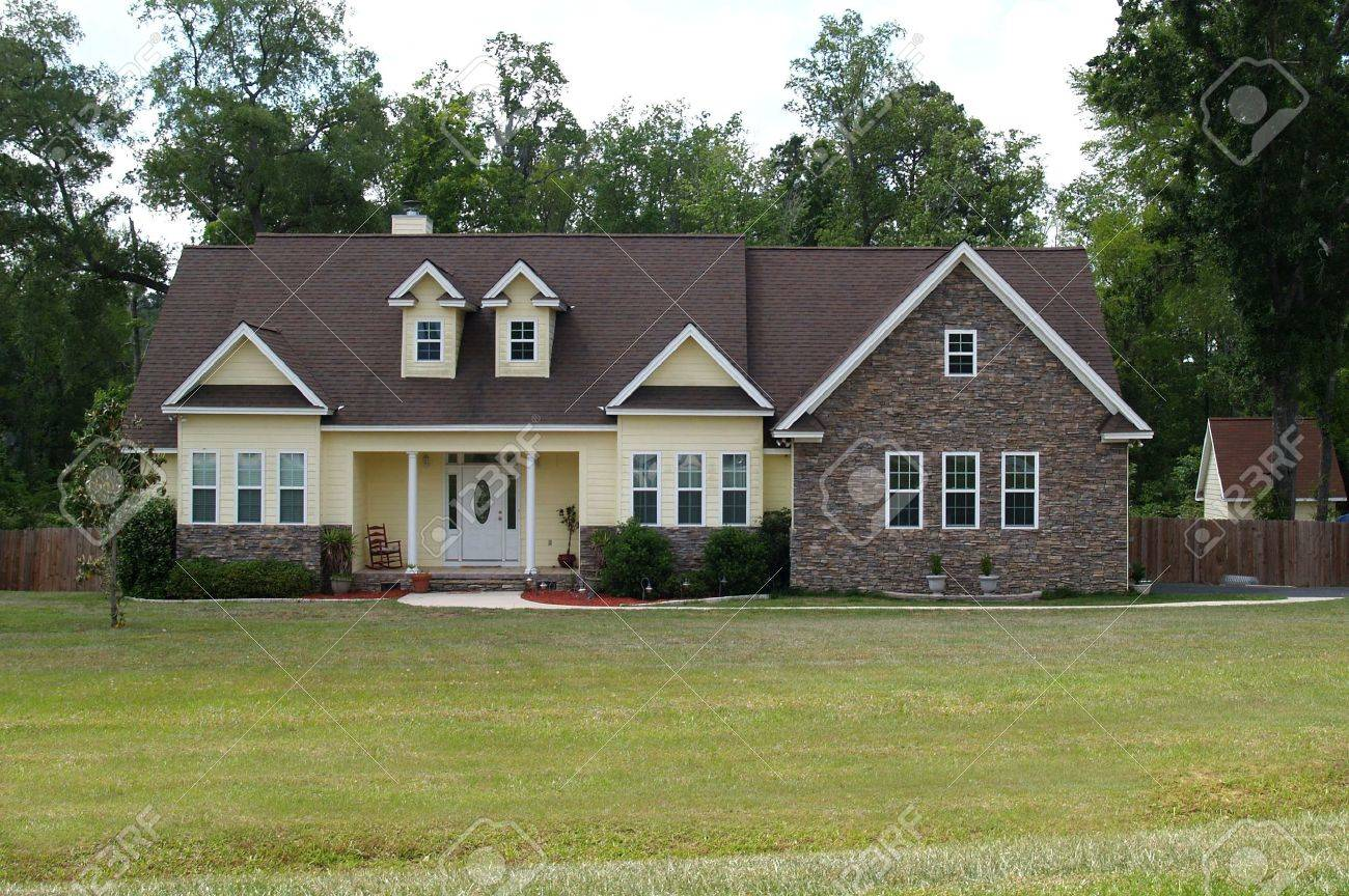 single story home images stock pictures royalty free single single story home one story residential home with both brick and board siding on the