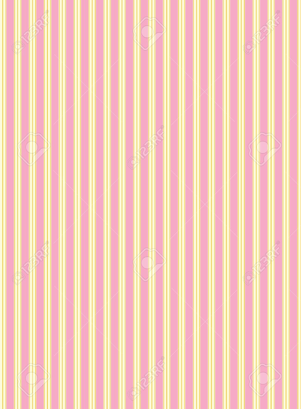 swatch striped fabric wallpaper in pink, gold and ecru that matches Valentine borders. - 6352554