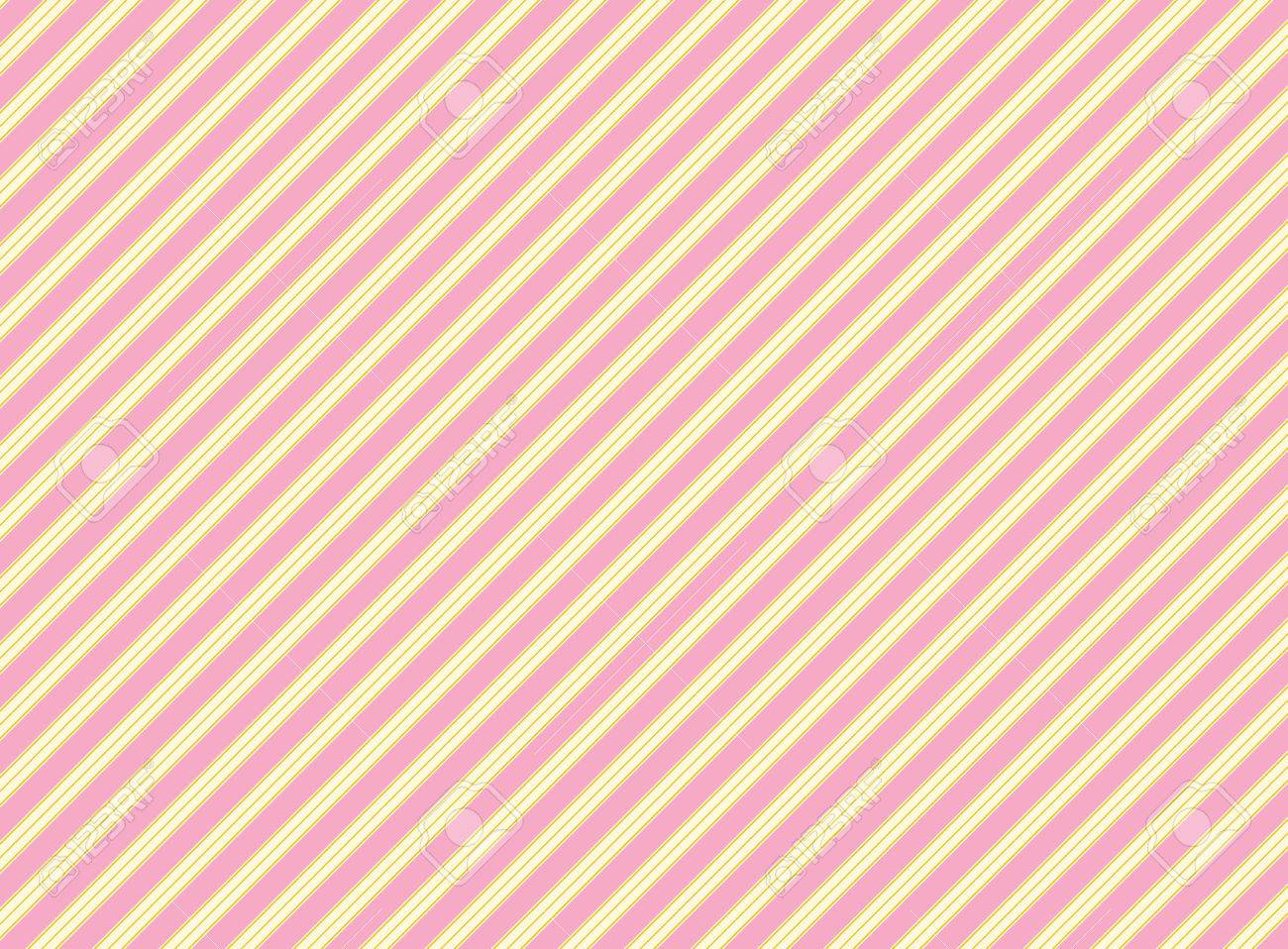 Diagonal Swatch Striped Fabric Wallpaper In Pink Gold And Ecru That Matches Valentine Borders