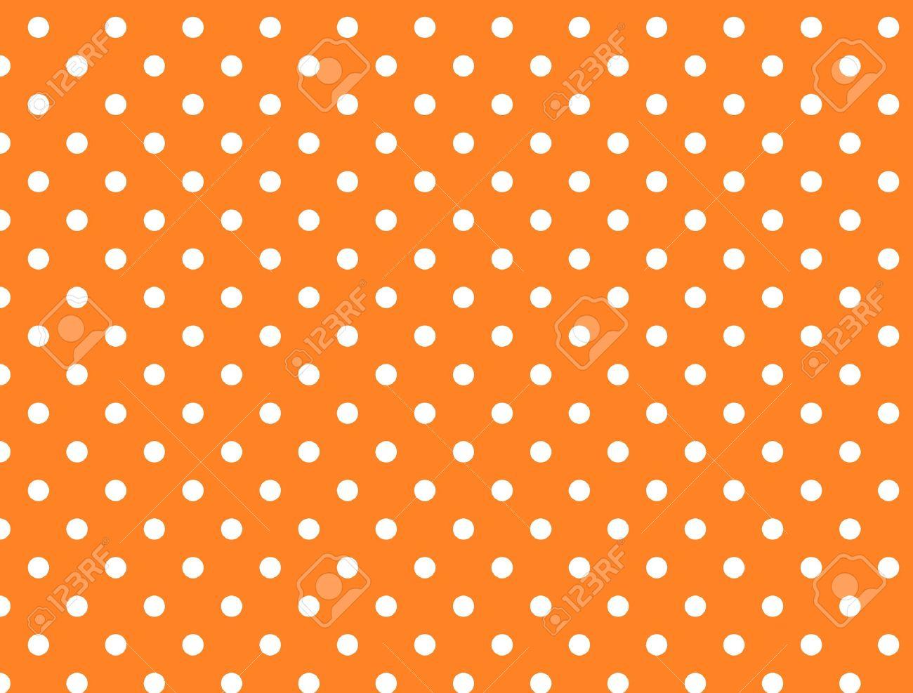 Orange background with white polka dots. - 6803391