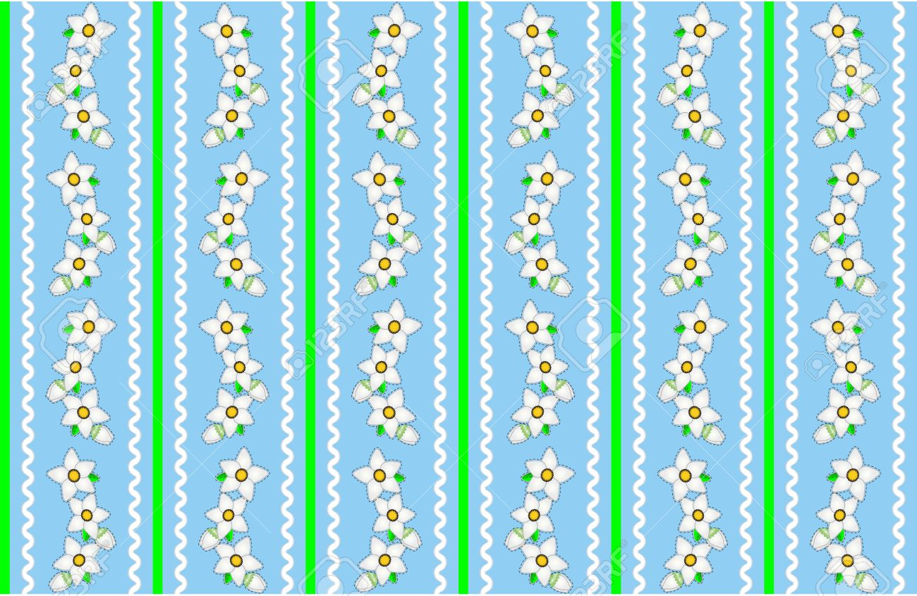 Jpg Seamless Continuous Striped Blue And Green Wallpaper Design