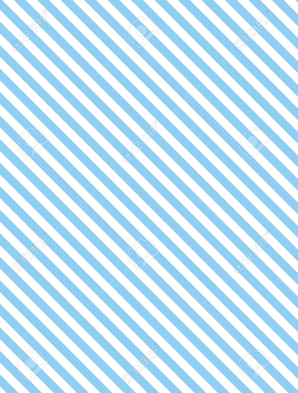 Seamless, continuous, diagonal striped background in blue and white. - 7256361
